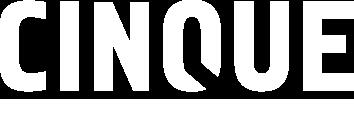 cinque logo white